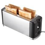 4 Scheiben Edelstahl Toaster Langschlitz